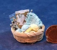 dollhouse knitting basket